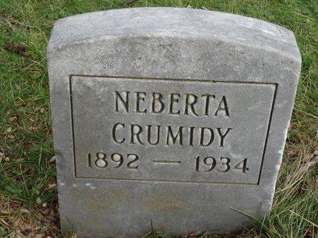 CRUMIDY, NEBERTA - Stark County, Ohio | NEBERTA CRUMIDY - Ohio Gravestone Photos