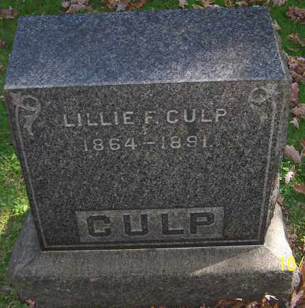 CULP, LILLIE F. - Stark County, Ohio | LILLIE F. CULP - Ohio Gravestone Photos