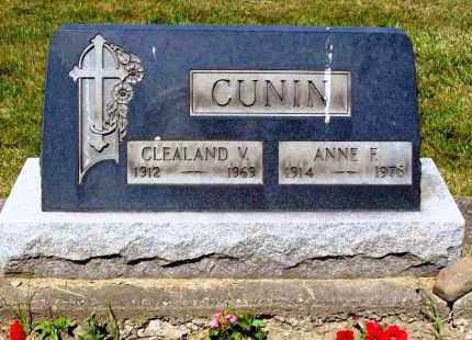 CUNIN, ANNE F. - Stark County, Ohio | ANNE F. CUNIN - Ohio Gravestone Photos