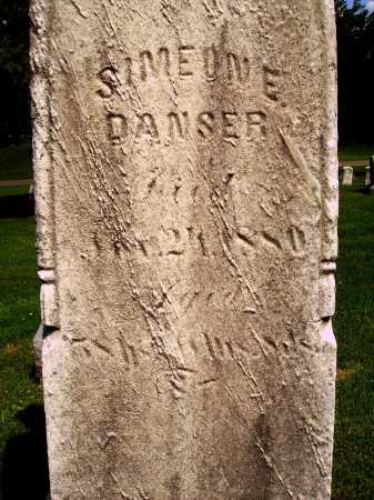 DANSER, SIMEON E. - CLSOEVIEW - Stark County, Ohio | SIMEON E. - CLSOEVIEW DANSER - Ohio Gravestone Photos