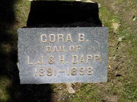 DAPP, CORA B. - Stark County, Ohio | CORA B. DAPP - Ohio Gravestone Photos