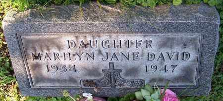 DAVID, MARILYN JANE - Stark County, Ohio | MARILYN JANE DAVID - Ohio Gravestone Photos