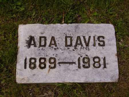 DAVIS, ADA - Stark County, Ohio | ADA DAVIS - Ohio Gravestone Photos