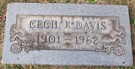 DAVIS, CECIL K. - Stark County, Ohio | CECIL K. DAVIS - Ohio Gravestone Photos