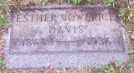 DAVIS, ESTHER BOWERICE - Stark County, Ohio | ESTHER BOWERICE DAVIS - Ohio Gravestone Photos