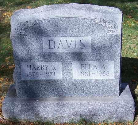 DAVIS, ELLA A. - Stark County, Ohio | ELLA A. DAVIS - Ohio Gravestone Photos