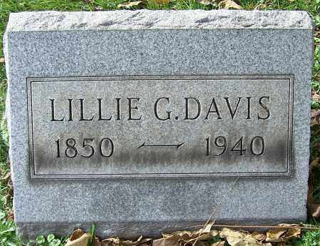 DAVIS, LILLIE G. - Stark County, Ohio | LILLIE G. DAVIS - Ohio Gravestone Photos