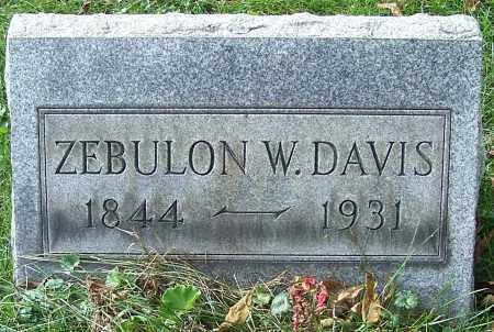 DAVIS, ZEBULON W. - Stark County, Ohio | ZEBULON W. DAVIS - Ohio Gravestone Photos