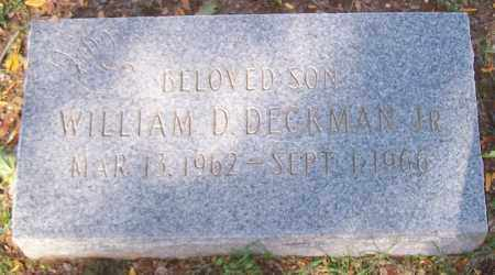 DECKMAN, WILLIAM D. JR. - Stark County, Ohio | WILLIAM D. JR. DECKMAN - Ohio Gravestone Photos