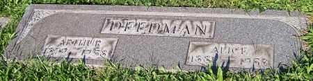DEEDMAN, ALICE - Stark County, Ohio | ALICE DEEDMAN - Ohio Gravestone Photos