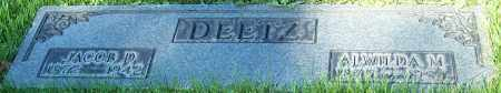 DEETZ, JACOB D. - Stark County, Ohio | JACOB D. DEETZ - Ohio Gravestone Photos