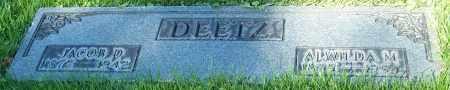 DEETZ, JACOB D. - Stark County, Ohio | JACOB D. DEETZ - Ohio Gravestone Photos