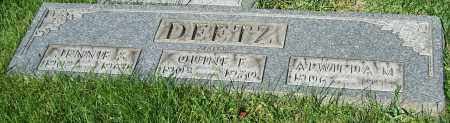 DEETZ, JENNIE S. - Stark County, Ohio | JENNIE S. DEETZ - Ohio Gravestone Photos