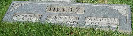DEETZ, ALWILDA M. - Stark County, Ohio | ALWILDA M. DEETZ - Ohio Gravestone Photos