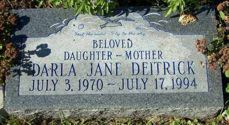 DEITRICK, DARLA JANE - Stark County, Ohio | DARLA JANE DEITRICK - Ohio Gravestone Photos