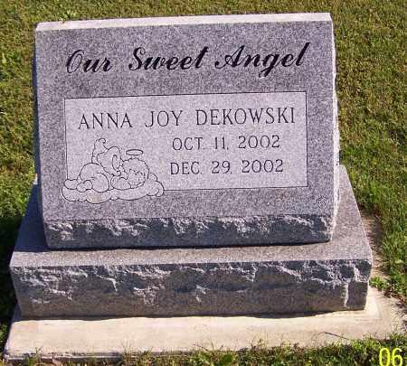 DEKOWSKI, ANNA JOY - Stark County, Ohio | ANNA JOY DEKOWSKI - Ohio Gravestone Photos