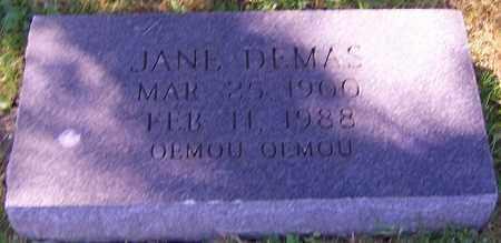 DEMAS, JANE - Stark County, Ohio | JANE DEMAS - Ohio Gravestone Photos