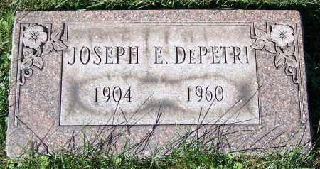 DEPETRI, JOSEPH E. - Stark County, Ohio | JOSEPH E. DEPETRI - Ohio Gravestone Photos