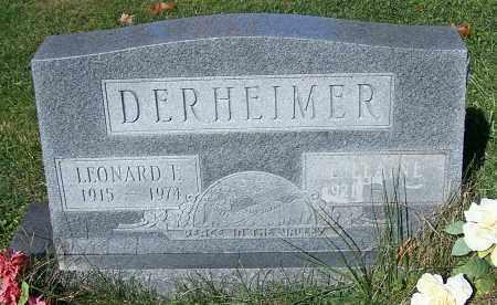 DERHEIMER, LEONARD E. - Stark County, Ohio | LEONARD E. DERHEIMER - Ohio Gravestone Photos