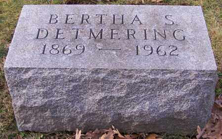 DETMERING, BERTHA S. - Stark County, Ohio | BERTHA S. DETMERING - Ohio Gravestone Photos