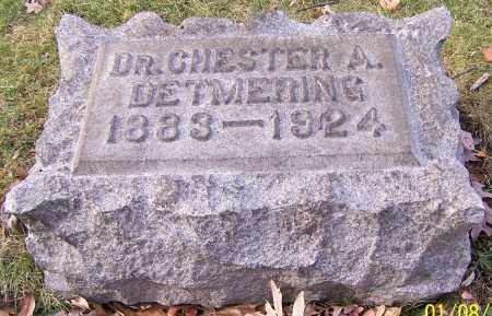 DETMERING, DR. CHESTER A. - Stark County, Ohio | DR. CHESTER A. DETMERING - Ohio Gravestone Photos