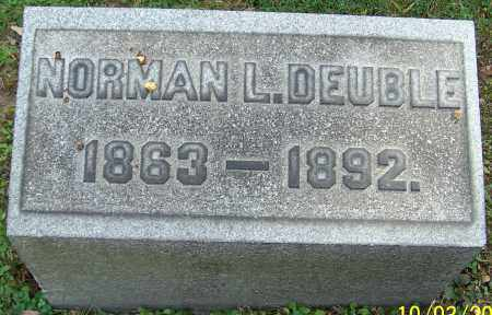 DEUBLE, NORMAN L. - Stark County, Ohio | NORMAN L. DEUBLE - Ohio Gravestone Photos