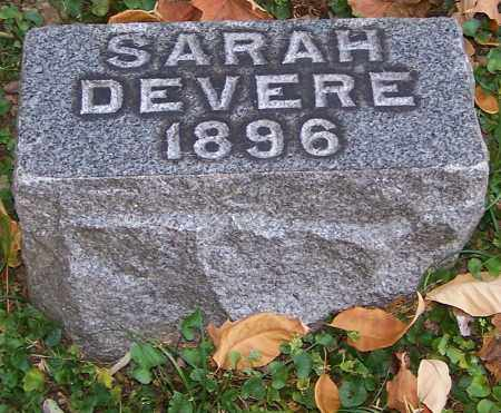 DEVERE, SARAH - Stark County, Ohio | SARAH DEVERE - Ohio Gravestone Photos