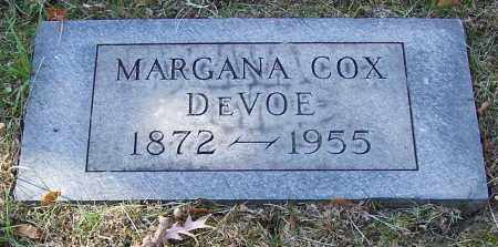 DEVOE, MARGANA COX - Stark County, Ohio | MARGANA COX DEVOE - Ohio Gravestone Photos