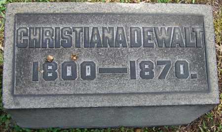DEWALT, CHRISTIANA - Stark County, Ohio | CHRISTIANA DEWALT - Ohio Gravestone Photos
