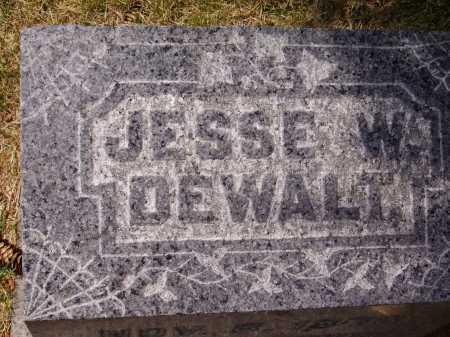 DEWALT, JESSE W. - TOP VIEW - Stark County, Ohio | JESSE W. - TOP VIEW DEWALT - Ohio Gravestone Photos