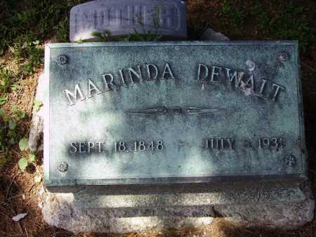 DEWALT, MARINDA - Stark County, Ohio | MARINDA DEWALT - Ohio Gravestone Photos