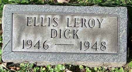 DICK, ELLIS LEROY - Stark County, Ohio | ELLIS LEROY DICK - Ohio Gravestone Photos