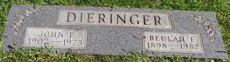 DIERINGER, JOHN E. - Stark County, Ohio | JOHN E. DIERINGER - Ohio Gravestone Photos