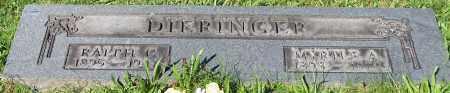 DIERINGER, MYRTLE A. - Stark County, Ohio | MYRTLE A. DIERINGER - Ohio Gravestone Photos