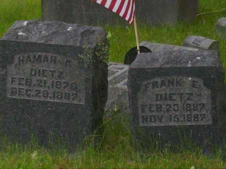 DIETZ, FRANK E. - Stark County, Ohio | FRANK E. DIETZ - Ohio Gravestone Photos