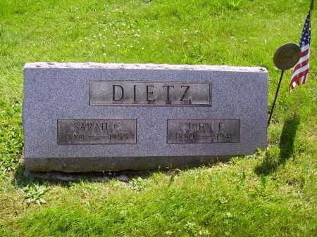 DIETZ, JOHN F. - Stark County, Ohio | JOHN F. DIETZ - Ohio Gravestone Photos