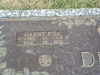 DITCH, GRANT F. SR. - Stark County, Ohio | GRANT F. SR. DITCH - Ohio Gravestone Photos