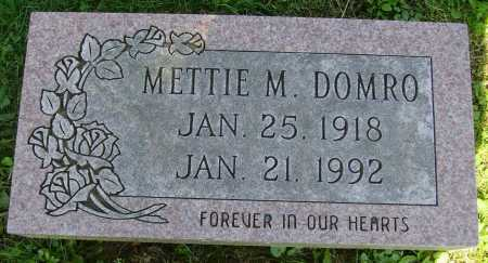 DOMRO, METTIE MAIRE - Stark County, Ohio | METTIE MAIRE DOMRO - Ohio Gravestone Photos