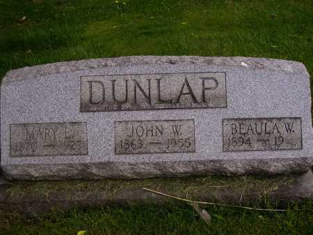 DUNLAP, BEAULA W. - Stark County, Ohio | BEAULA W. DUNLAP - Ohio Gravestone Photos