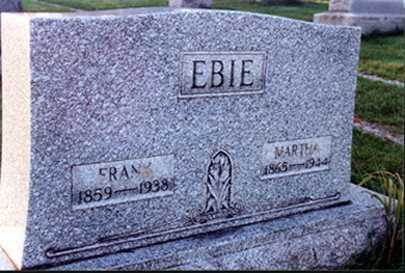 EBIE, FRANKLIN - Stark County, Ohio | FRANKLIN EBIE - Ohio Gravestone Photos