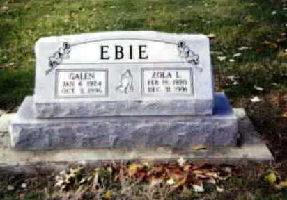 EBIE, ZOLA LUCILLE - Stark County, Ohio | ZOLA LUCILLE EBIE - Ohio Gravestone Photos