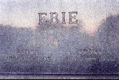 EBIE, LLOYD - Stark County, Ohio | LLOYD EBIE - Ohio Gravestone Photos