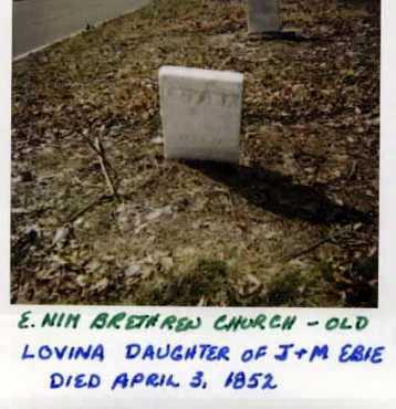EBIE, LOVINA - Stark County, Ohio | LOVINA EBIE - Ohio Gravestone Photos