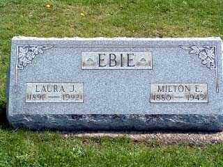 EBIE, LAURA JULIA - Stark County, Ohio | LAURA JULIA EBIE - Ohio Gravestone Photos