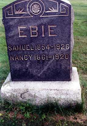 "WEAVER EBIE, NANCY ""NANNIE"" - Stark County, Ohio 