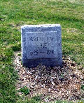 EBIE, WALTER WILLIAM - Stark County, Ohio | WALTER WILLIAM EBIE - Ohio Gravestone Photos