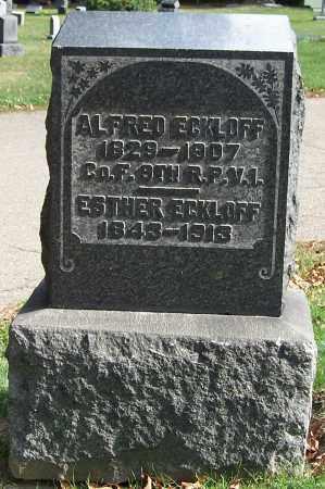 ECKLOFF, ALFRED - Stark County, Ohio | ALFRED ECKLOFF - Ohio Gravestone Photos