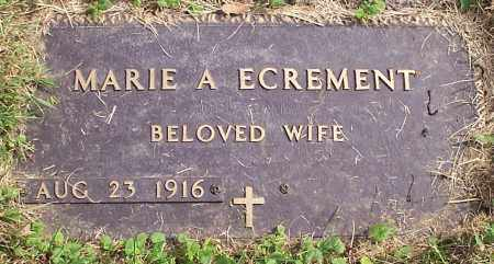 ECREMENT, MARIE A. - Stark County, Ohio | MARIE A. ECREMENT - Ohio Gravestone Photos