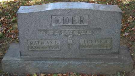 EDER, LOUISE J. - Stark County, Ohio | LOUISE J. EDER - Ohio Gravestone Photos