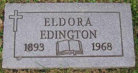 EDINGTON, ELDORA - Stark County, Ohio | ELDORA EDINGTON - Ohio Gravestone Photos
